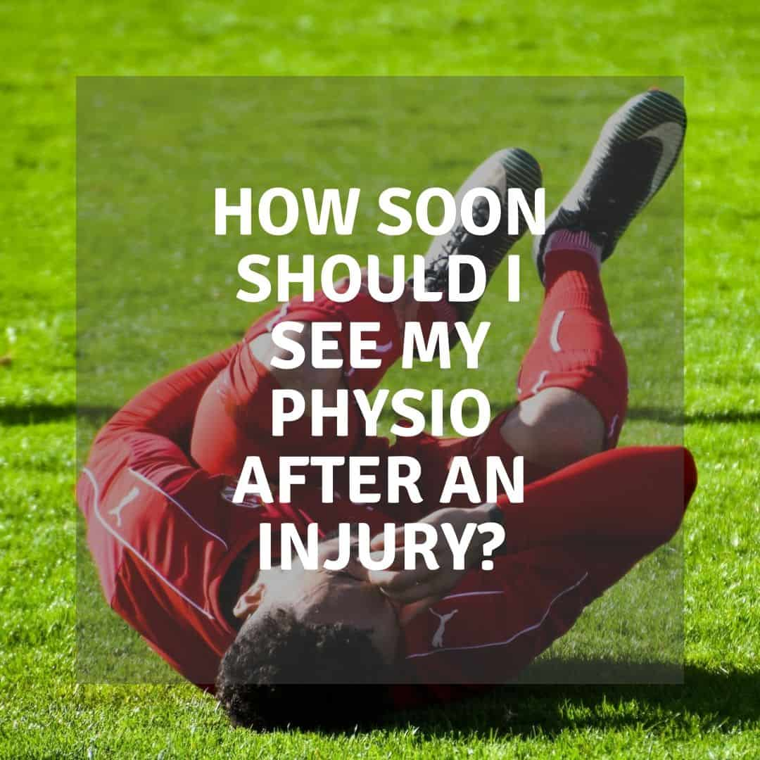 football injury - seeing physio text